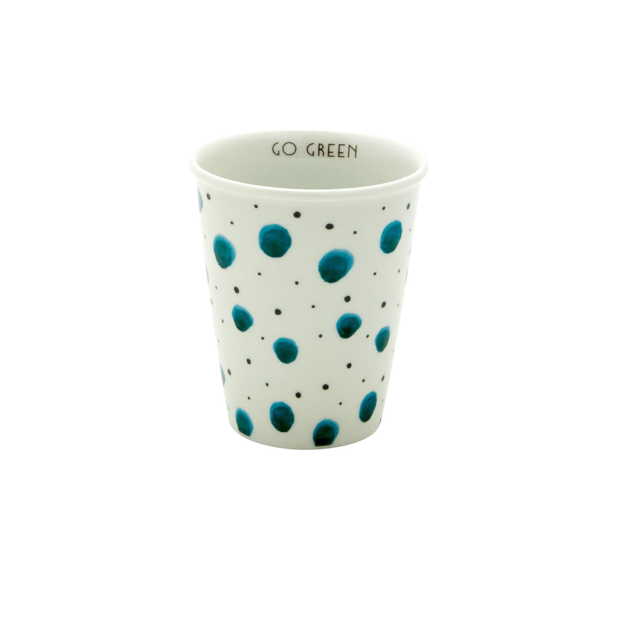 Porcelain Cup - Watercolor Splash Print - rice