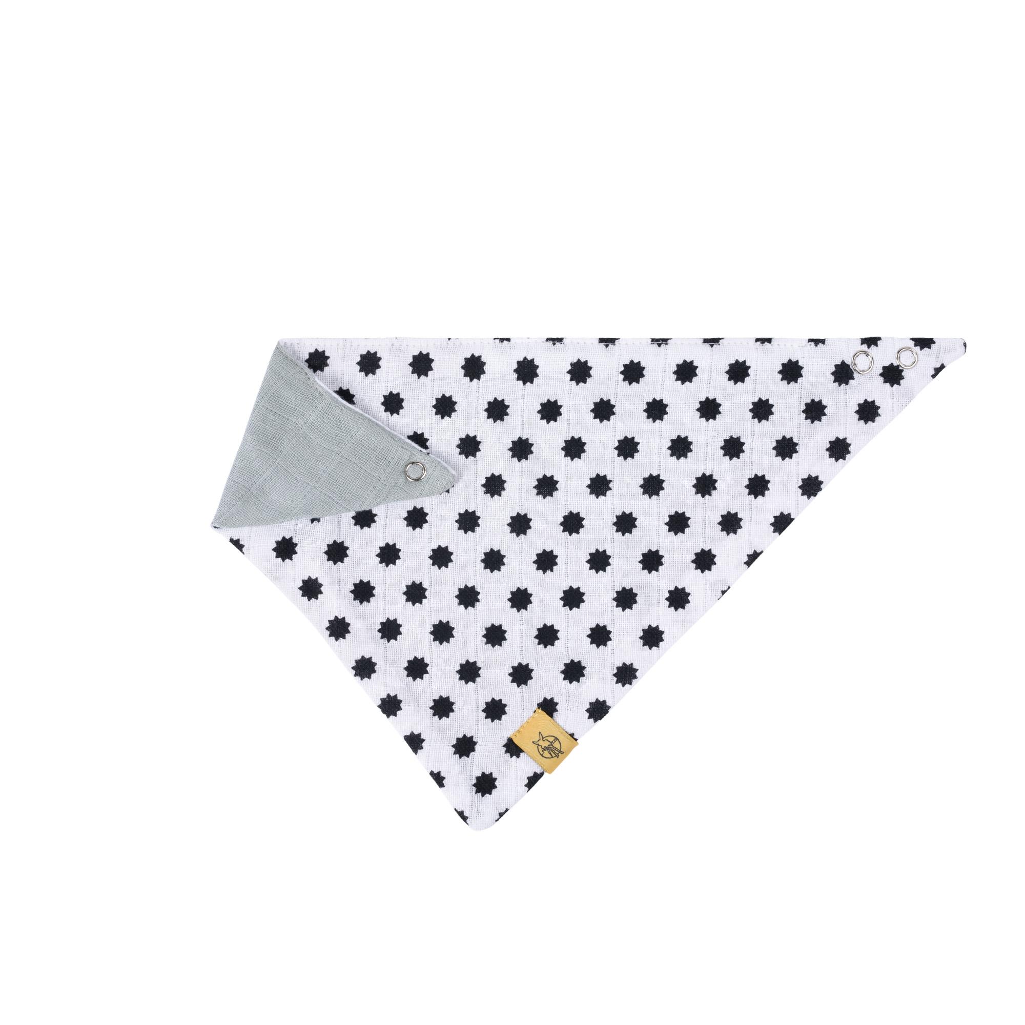 Dreieckstuch Baby - Bandana Muslin - Little Chums Stars White - Lässig