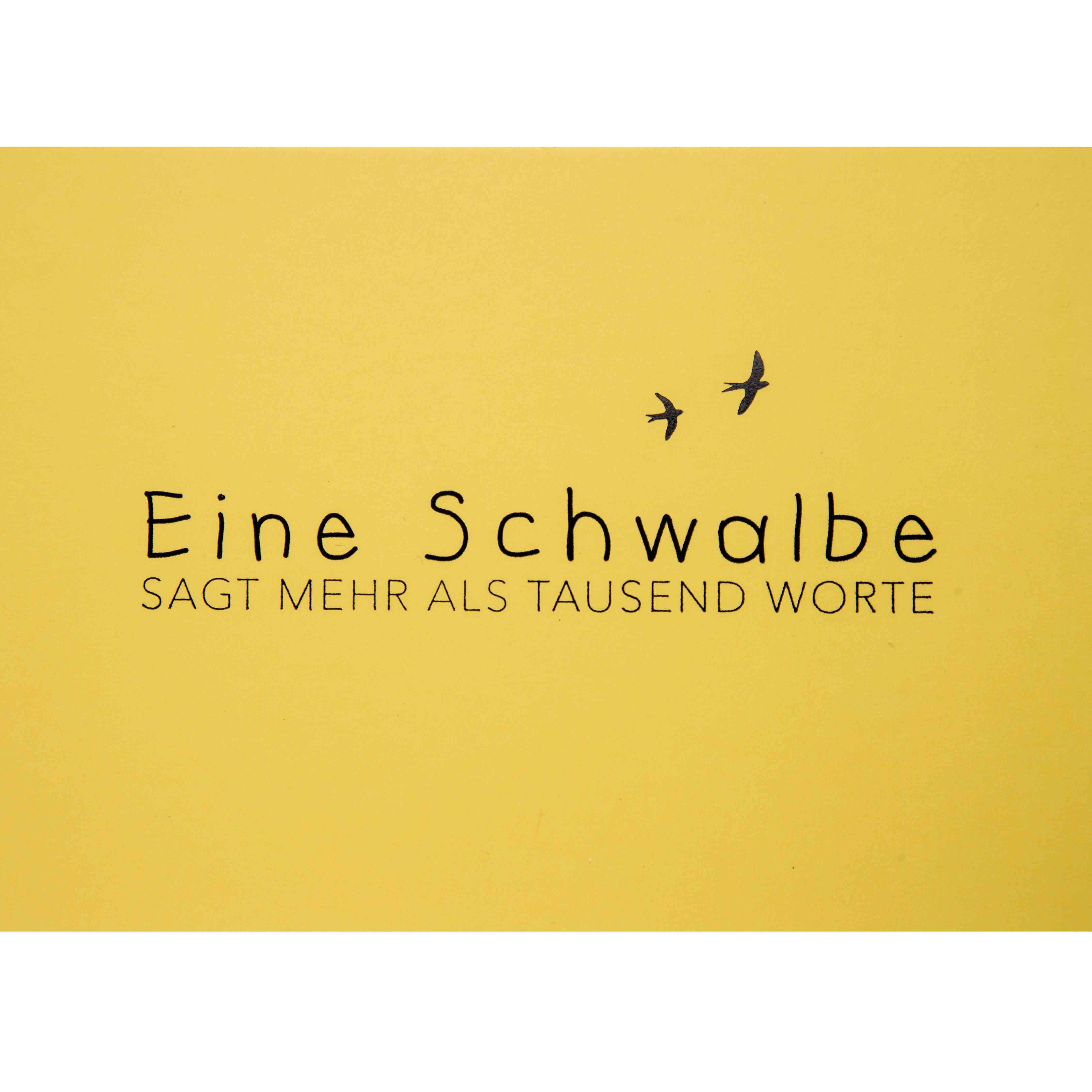 Postkarte - Eine Schwalbe - räder