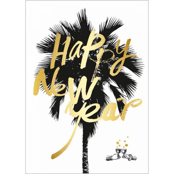 "Postkarte ""Happy New Year"" - The Buttique"