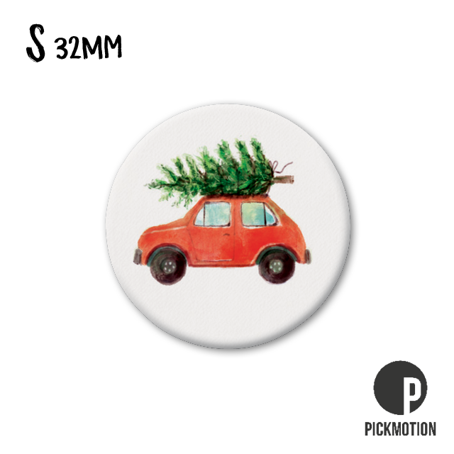 "Kühlschrank-Magnet - Klein - ""Christmas car"" - MSA 0465 - Pickmotion (Xmas)"
