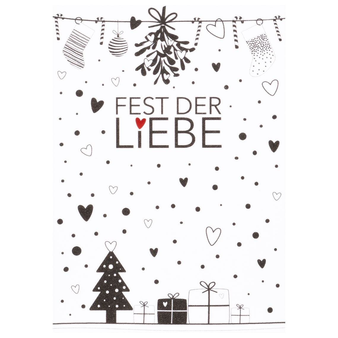 """Weihnachtspostkarte """"Fest der Liebe"""" - räder (Xmas)"""