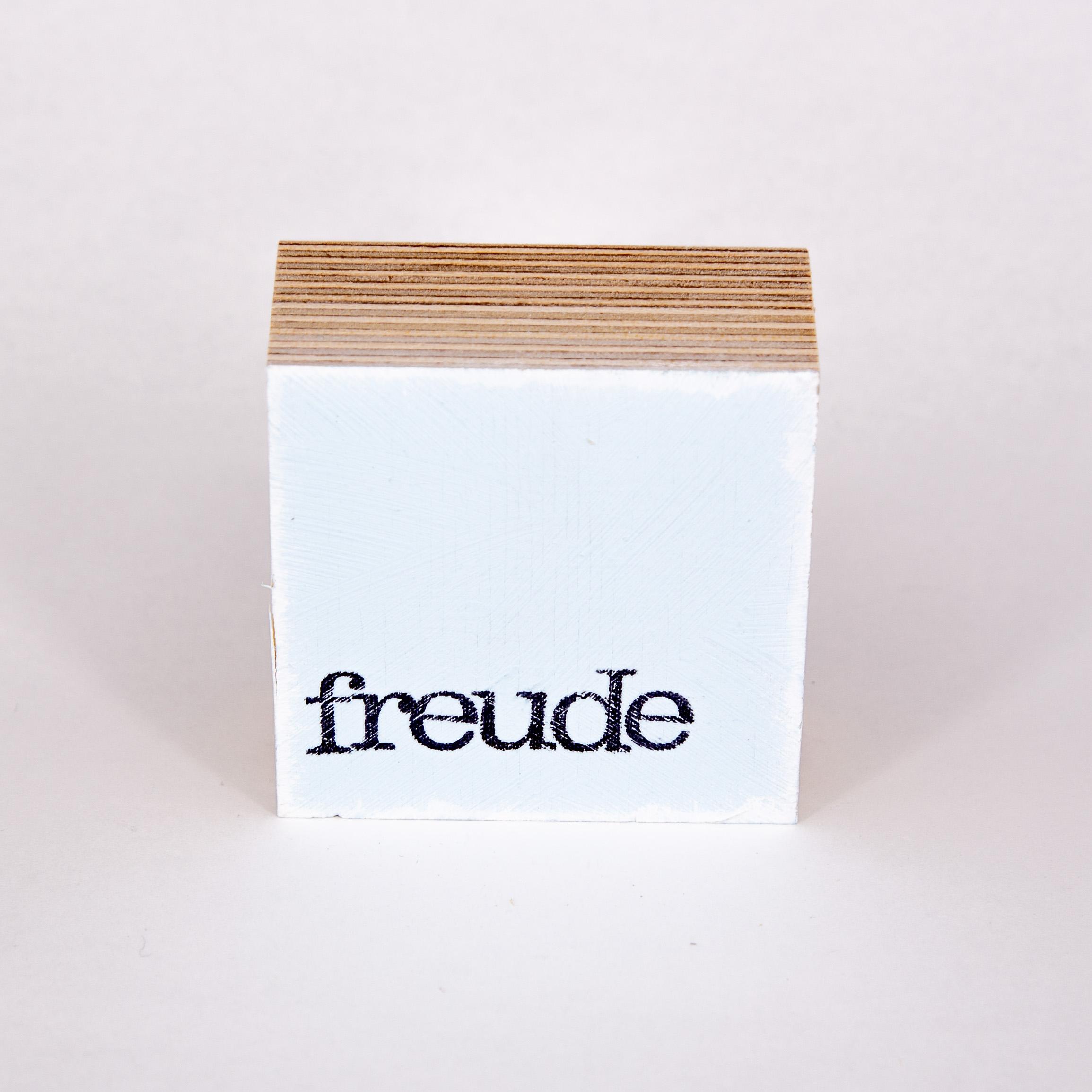 """Mini Textplatte - """"freude"""" - iopla"""