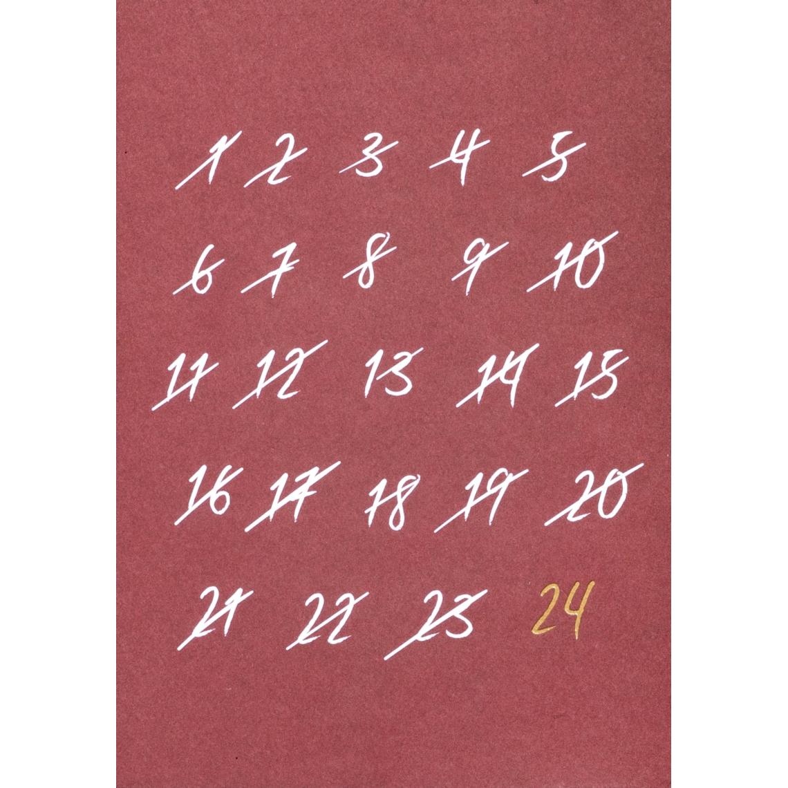 """Weihnachtspostkarte - """"100% Weihnachten Countdown"""" - räder (Xmas)"""