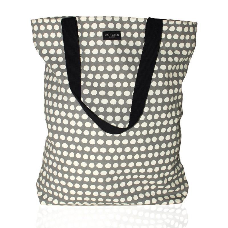 Einkaufstasche - Design Dot Gray - Aspegren