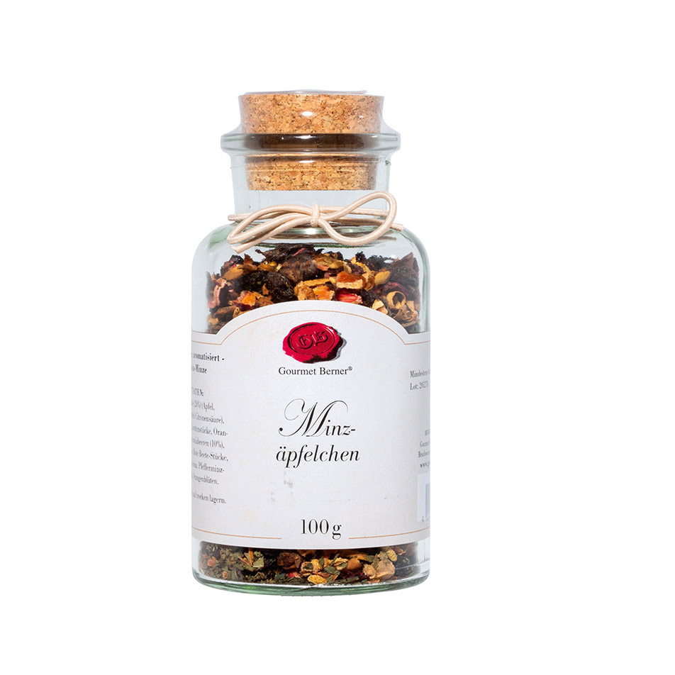 Minzäpfelchen - Früchtetee - 100g Korkenglas - Gourmet Berner