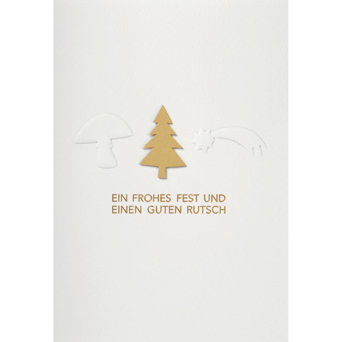 """Weihnachtkarte - """"Ein frohes Fest und einen guten Rutsch"""" - räder (Xmas)"""