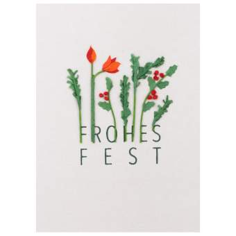 """Weihnachts Papierkunstkarte """"Frohes Fest"""" - räder (Xmas)"""