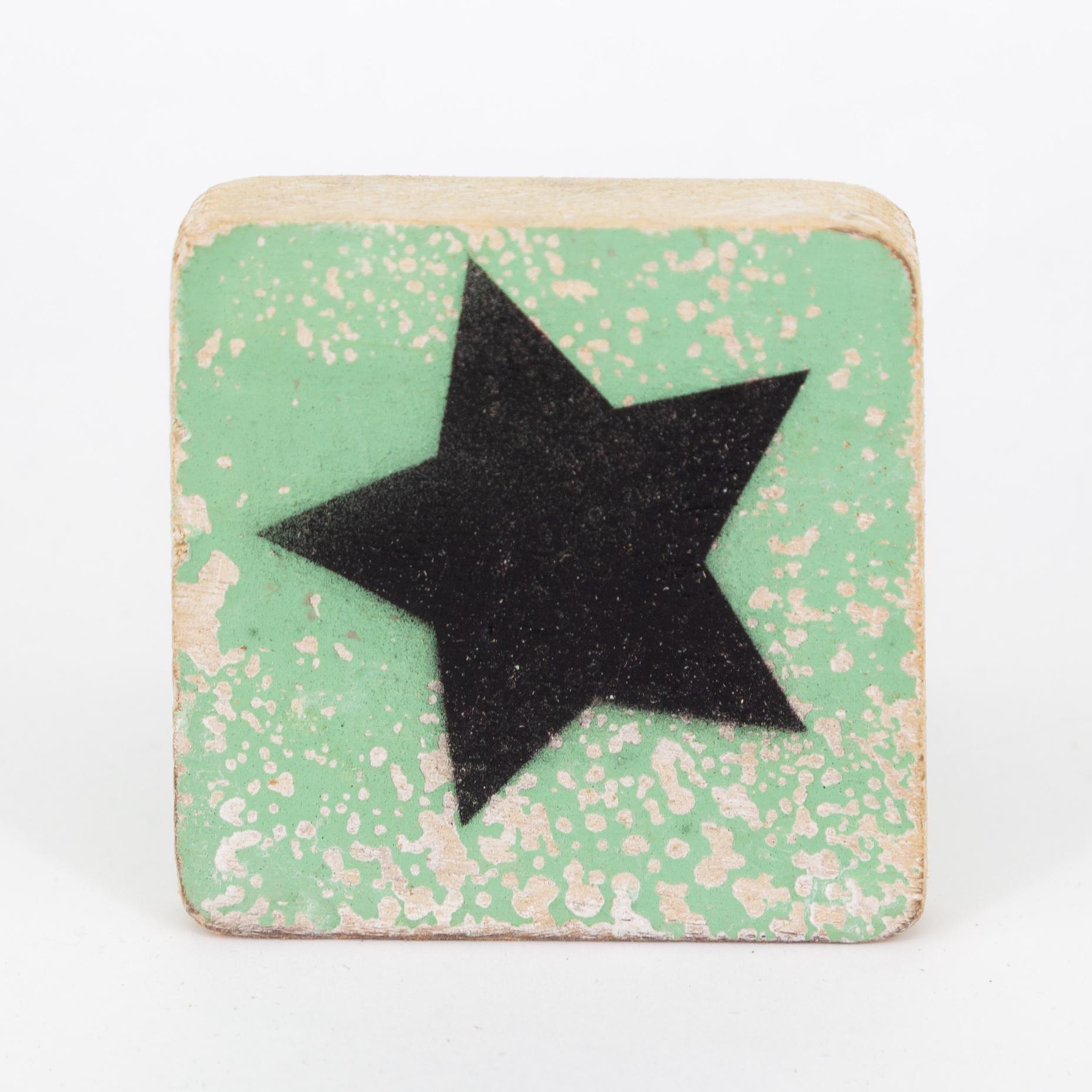 Holzsymbol - Stern - im Scrabble-Style