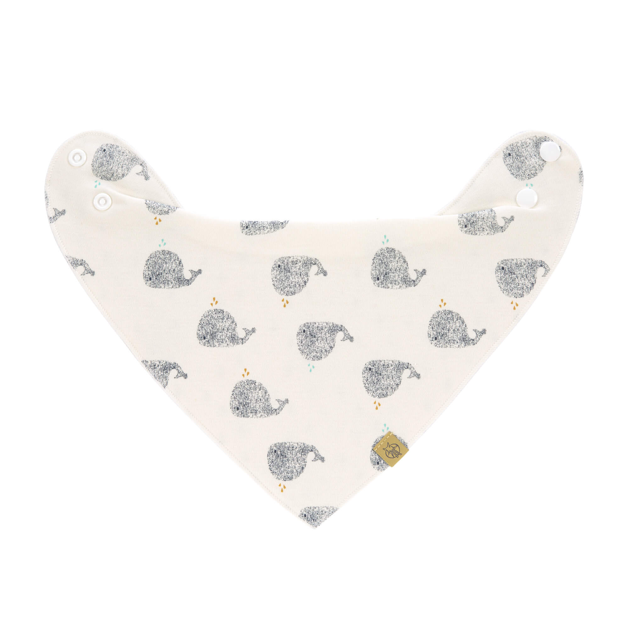 Dreieckstuch Baby - Bandana, Little Water Whale - Lässig
