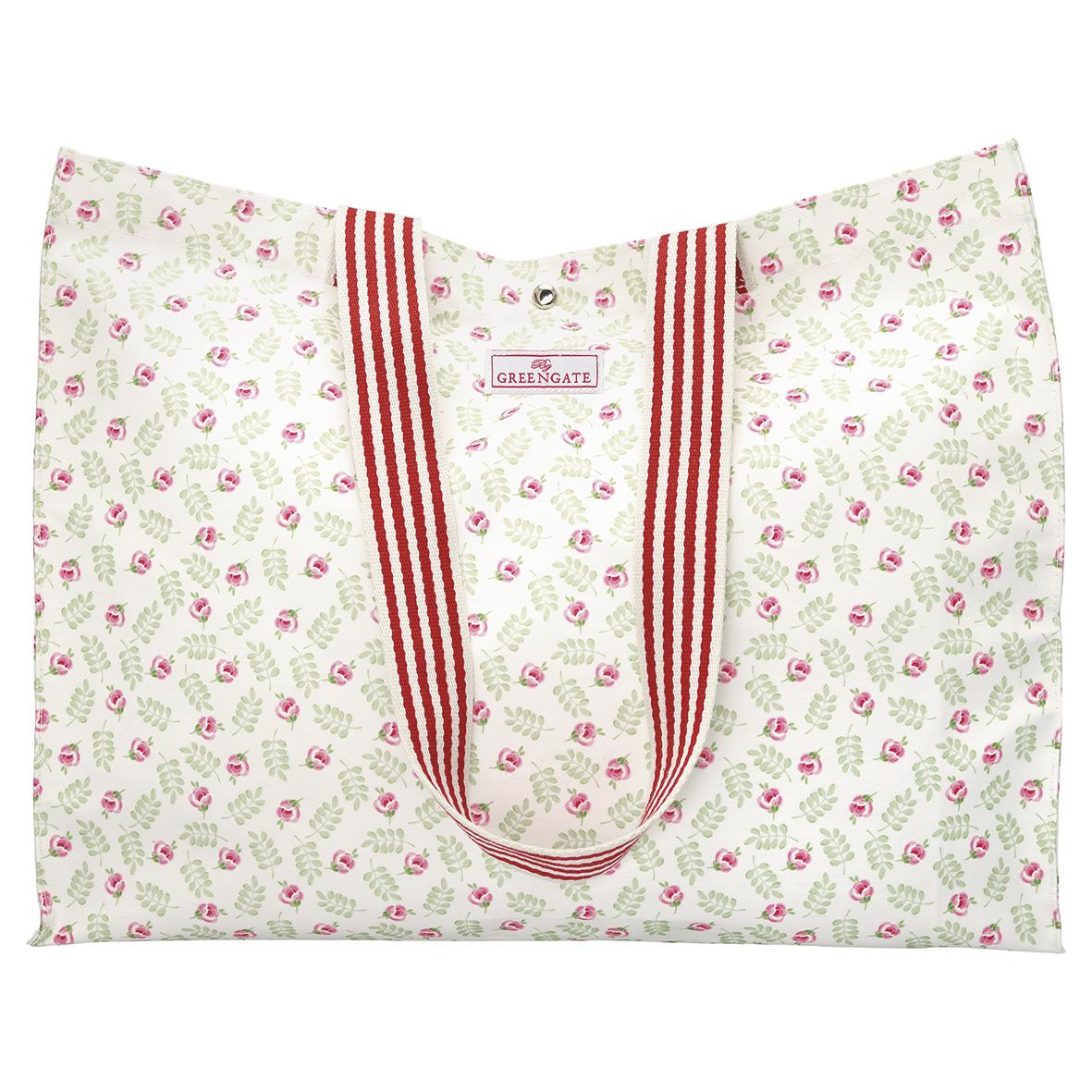 Shopper - Oilcloth Shopper - Lily petit white - Greengate