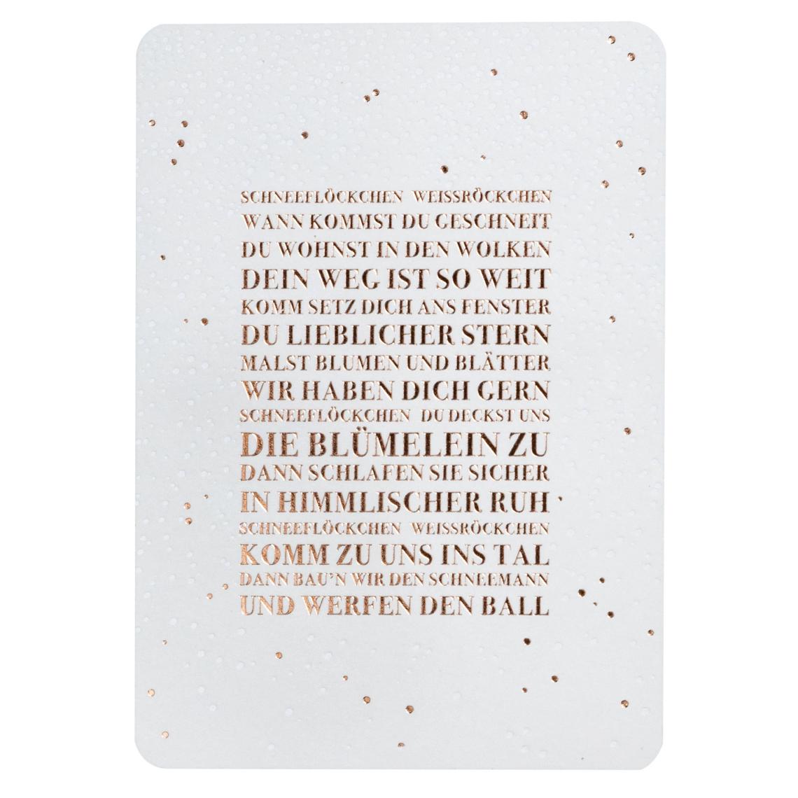 """Schneepostkarte """"Schneeflöckchen Weißröckchen"""" - räder (Xmas)"""