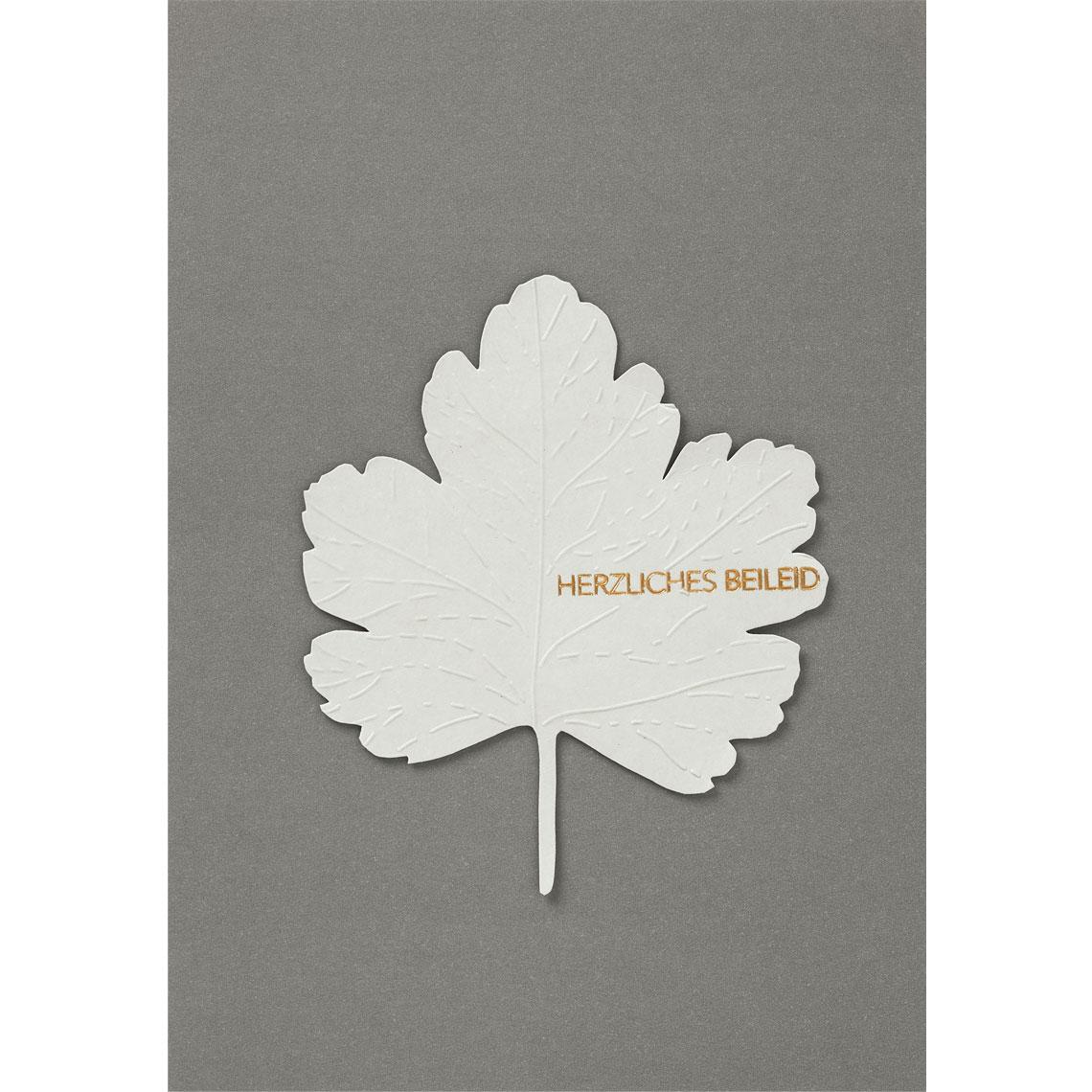 Blätter Trauerkarte