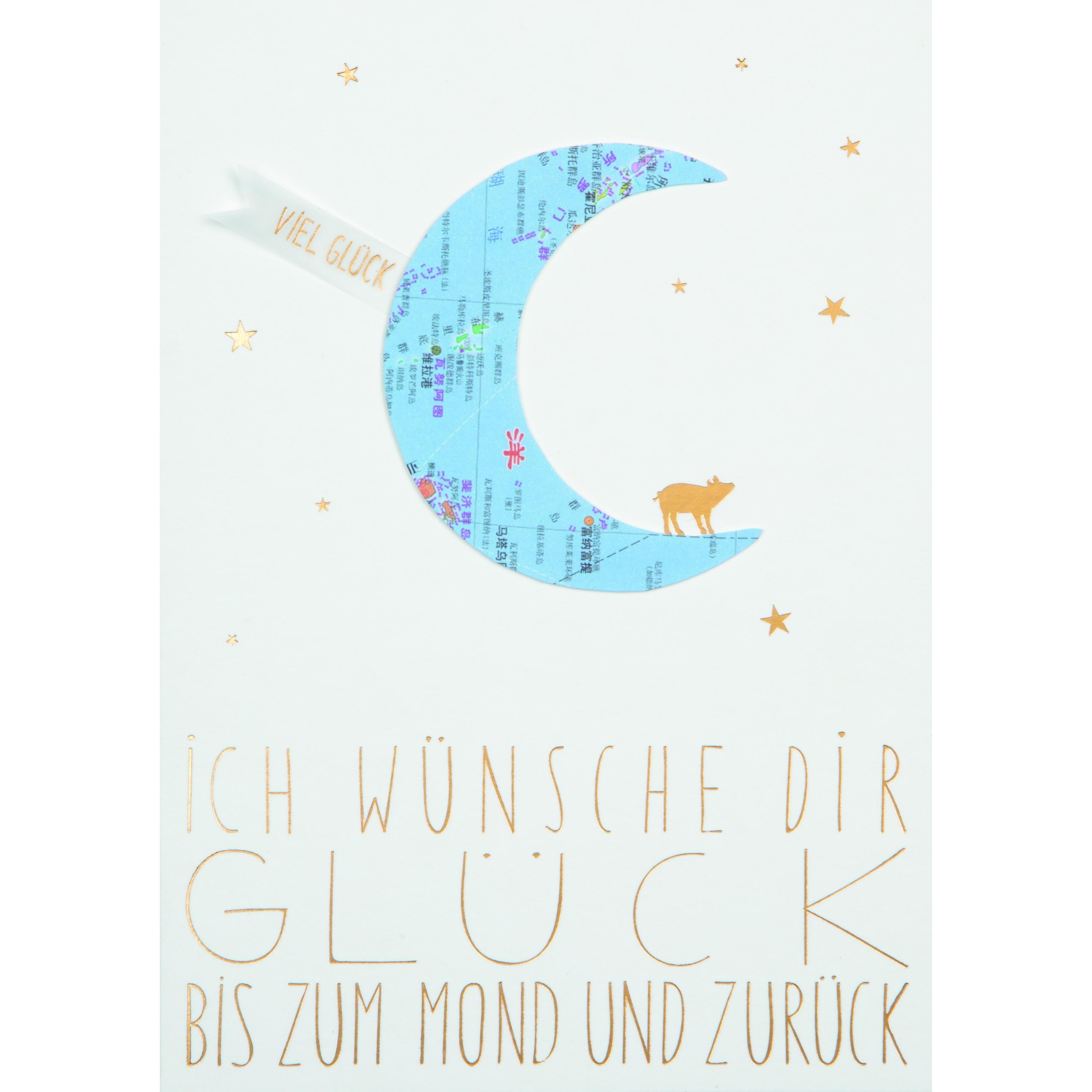 """Karte """"Ich wünsche Dir Glück"""" - räder"""