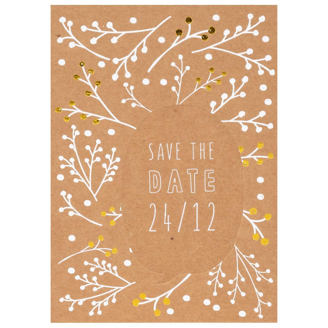 """Sprechblasenpostkarte """"Save the date"""" - räder (Xmas)"""