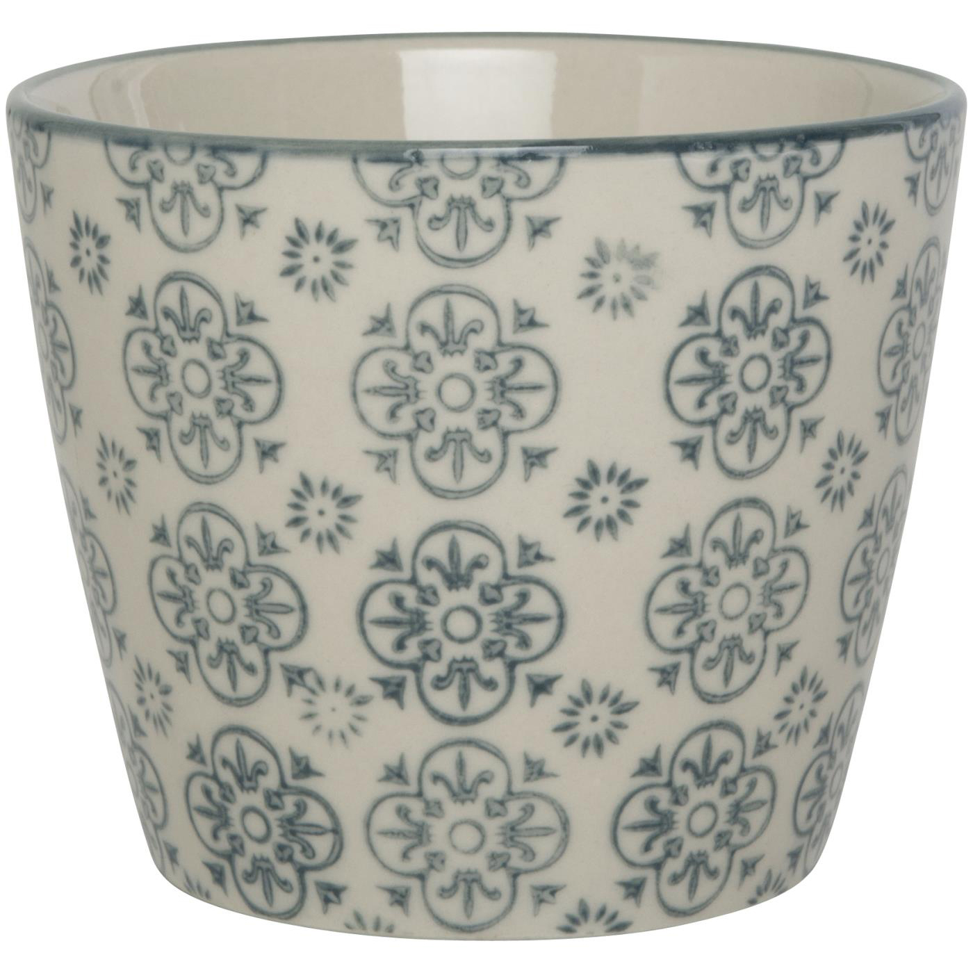 Becher gross - mit grauem Ornament - Muster B -Casablanca - IB Laursen