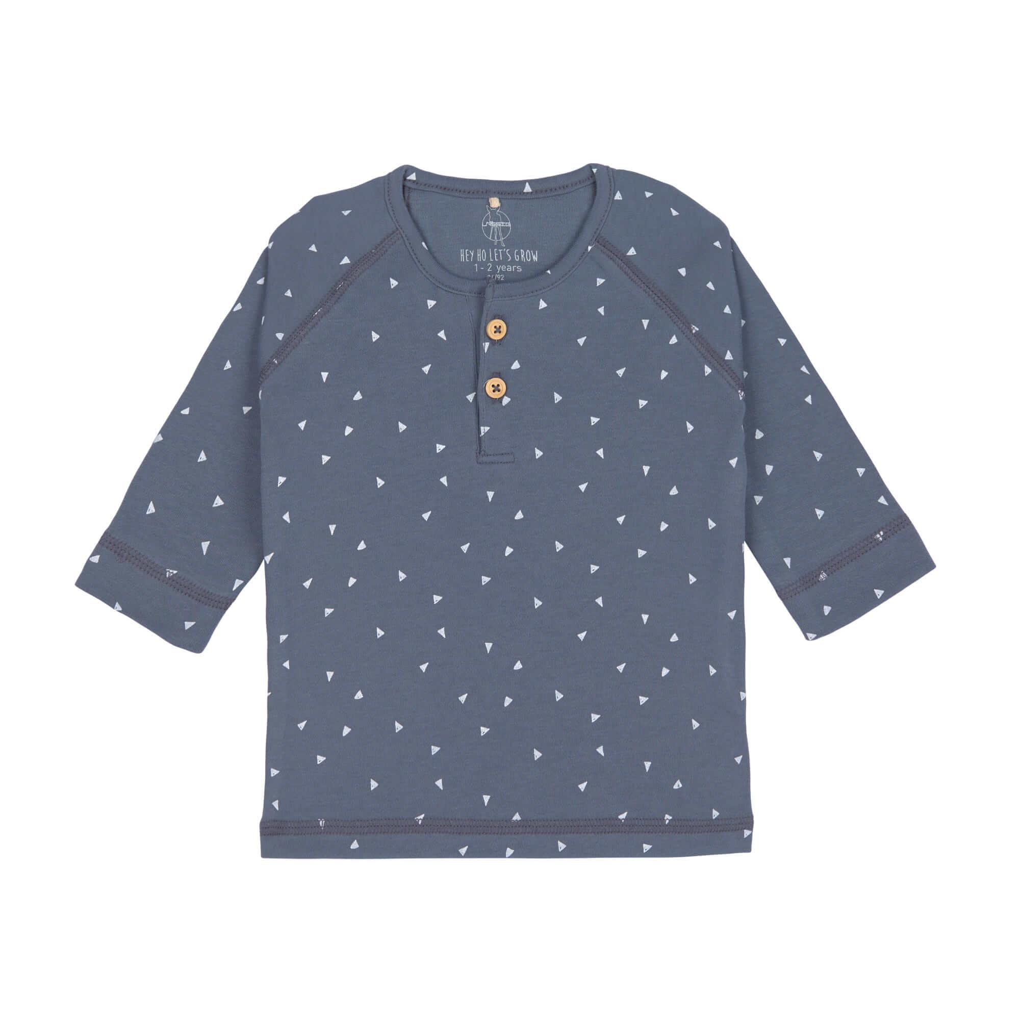 Baby Langarmshirt - Triangle blue - Lässig