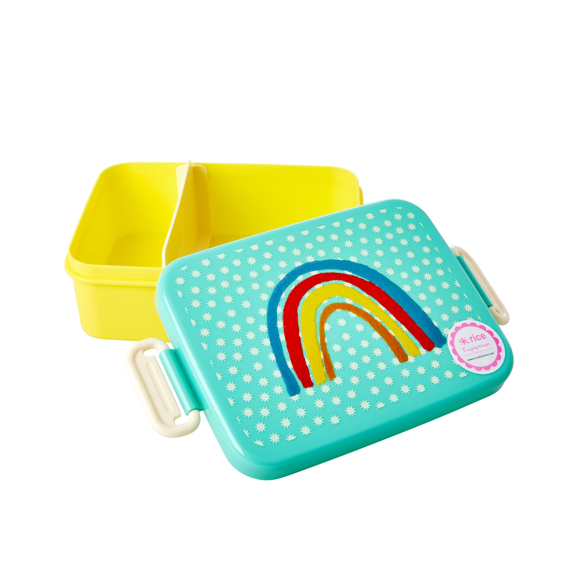 Large Lunchbox - Rainbow and Stars Print - rice