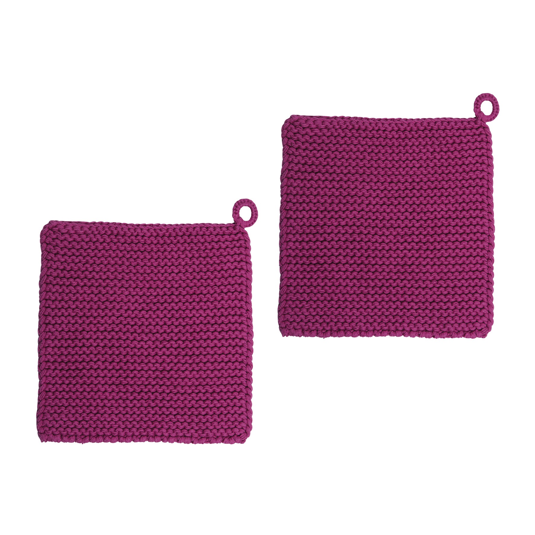 Topflappen - Twist Fuchsia 25x25 2er Pack - PAD home design