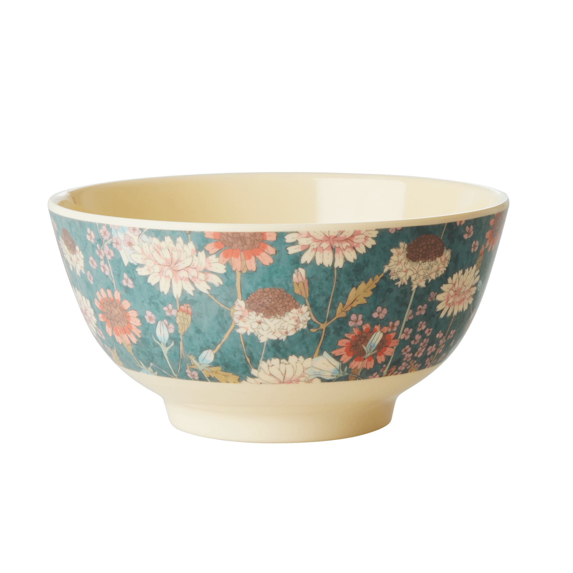 Medium Melamine Bowl - Fall Flower Print - rice