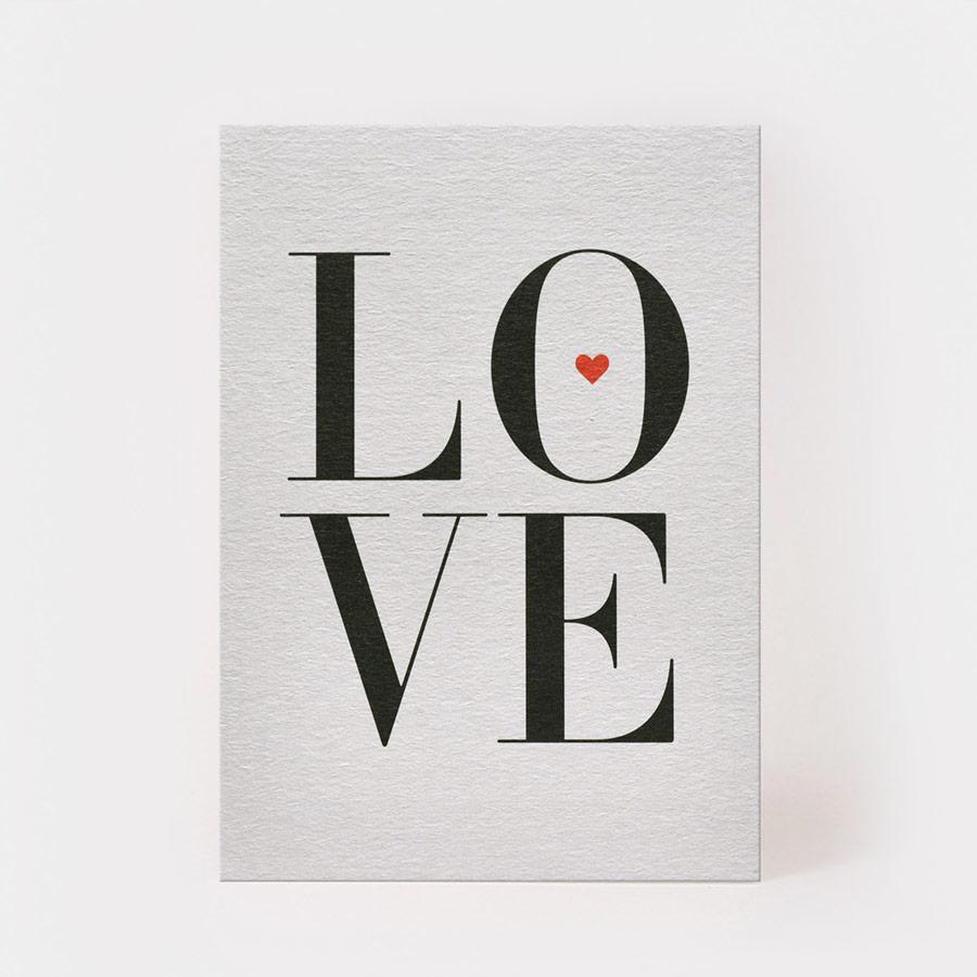 "Postkarte - ""Love"" - Kartenmarie"