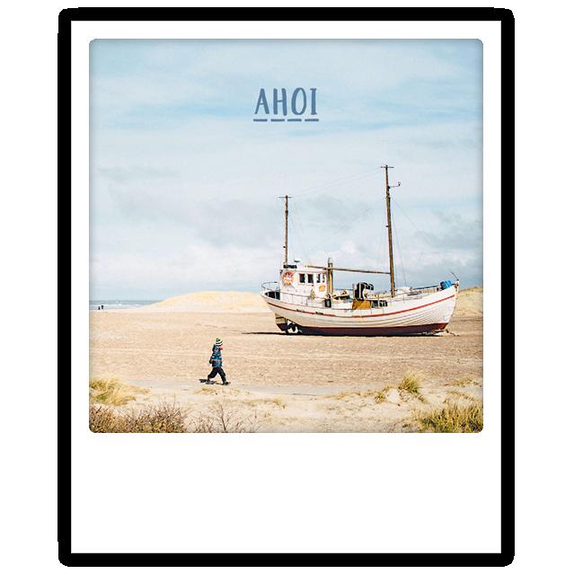 "Photo-Postkarte ""Ahoi"" - ZG 0715 - DE - Pickmotion"