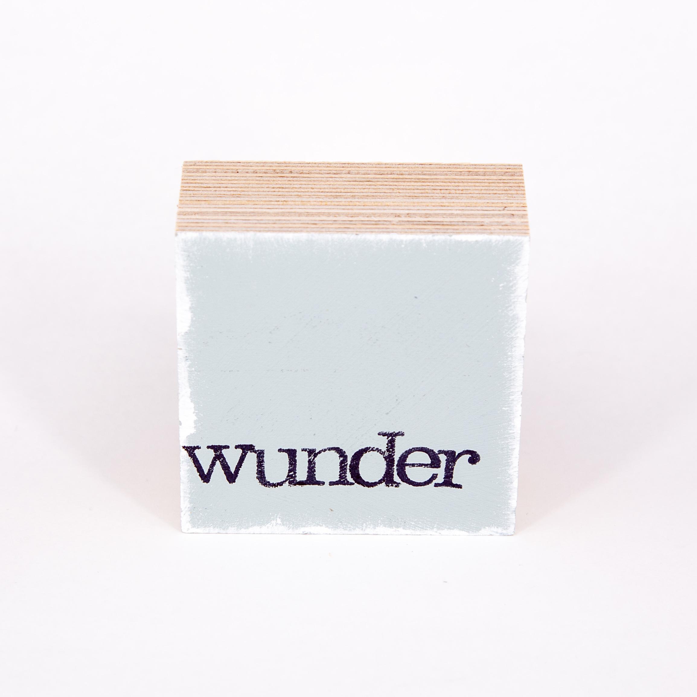 "Mini Textplatte - ""wunder"" - iopla"
