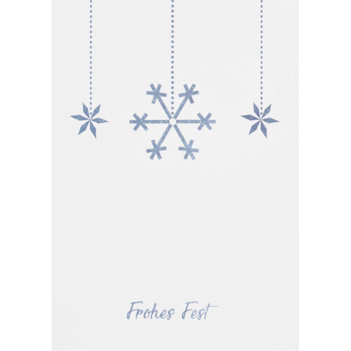 """Weihnachtspostkarte """"Schneeflocke"""" - räder (Xmas)"""