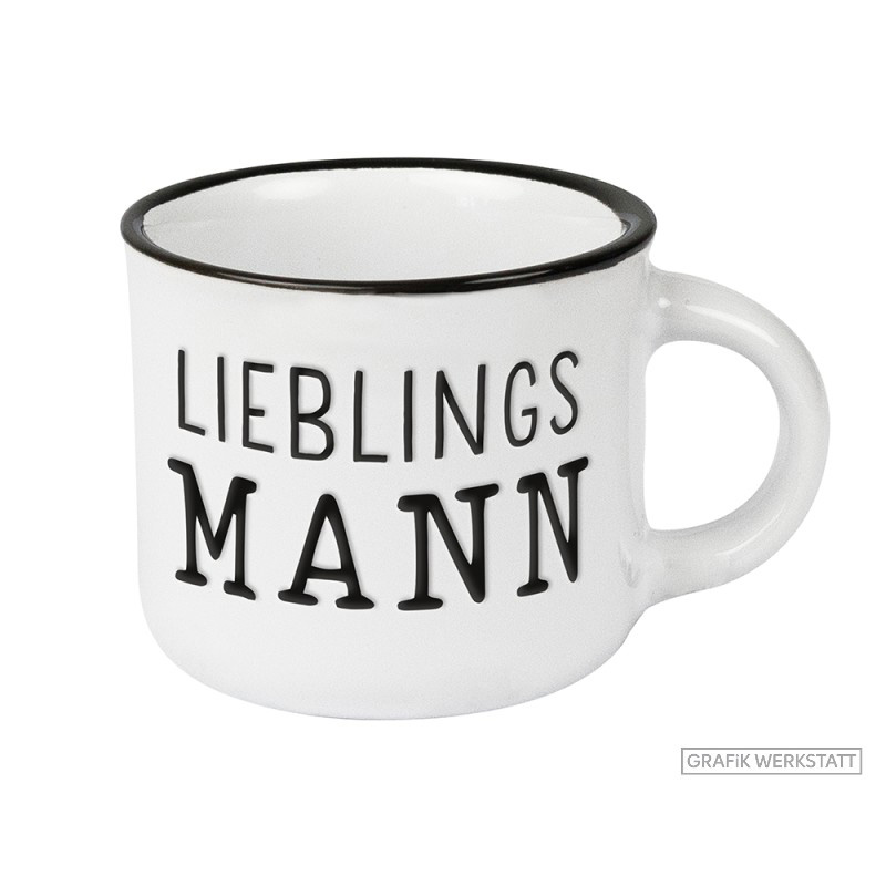 Espresso Tasse Vintage - Lieblingsmann - Grafik Werkstatt