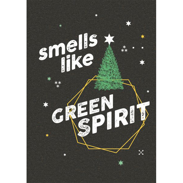 "Weihnachtspostkarte - ""Smells like green spirit"" - The Buttique"
