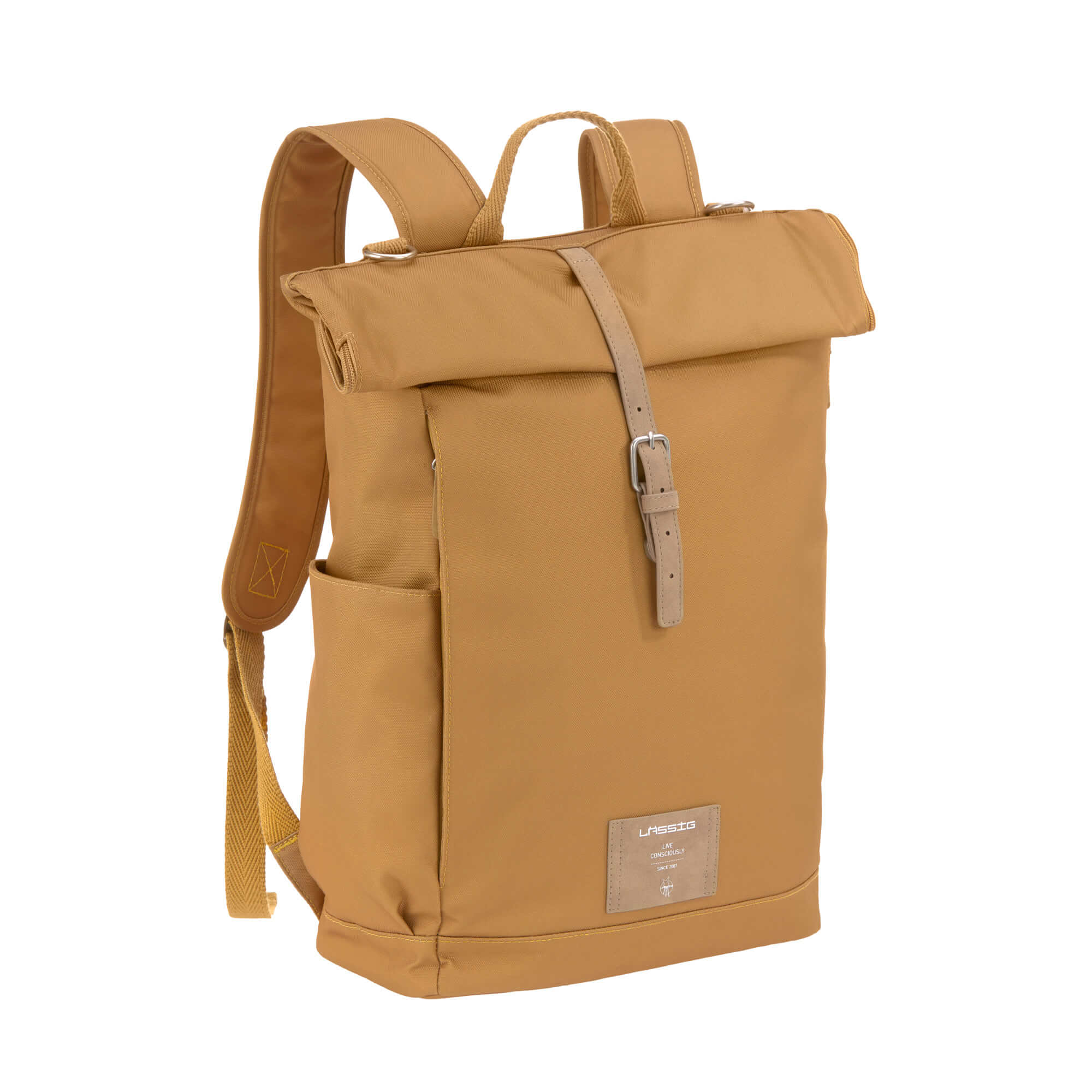 Wickelrucksack - Rolltop Backpack - Curry - Lässig