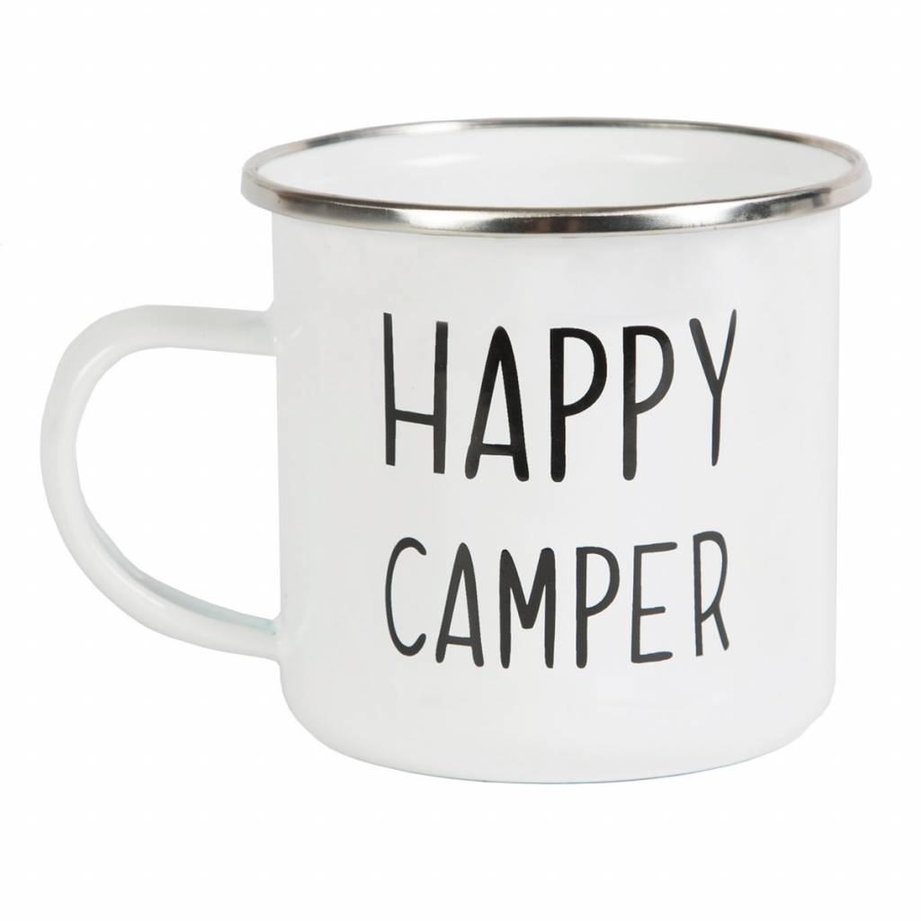 Becher - Emaille - Happy Camper - Sass & Belle