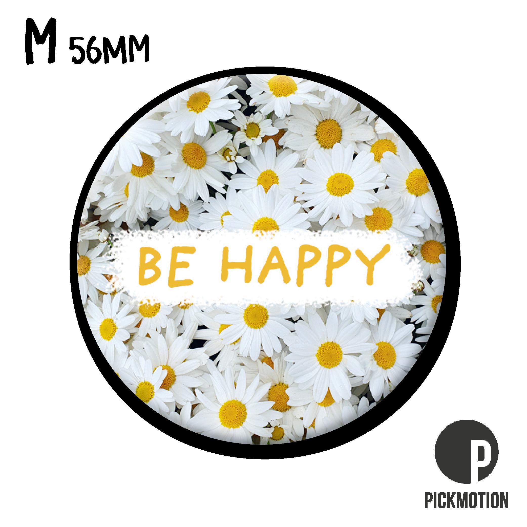 "Kühlschrank-Magnet - Medium - Be happy"" - MM 0868-EN - Pickmotion"