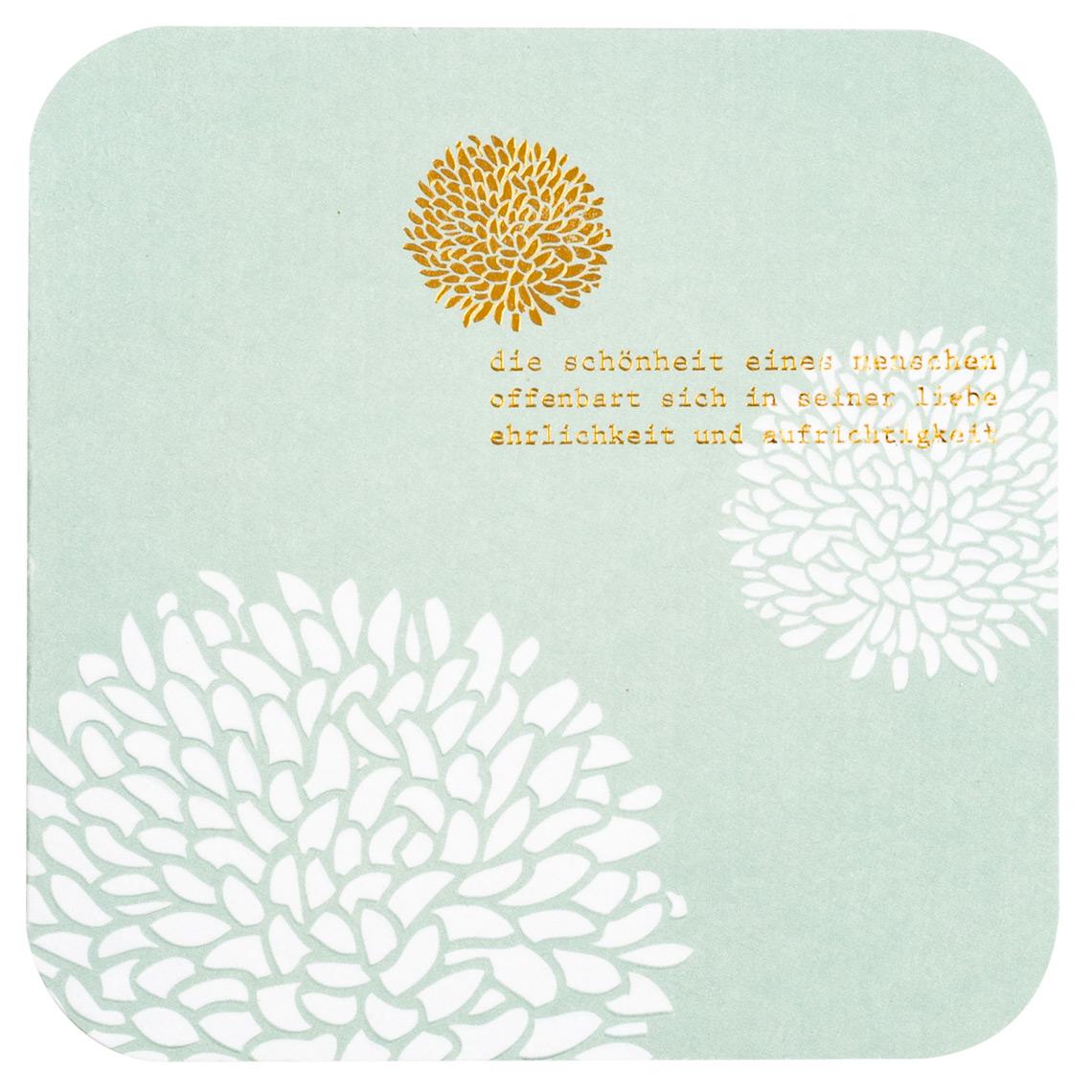 Blütenpoesiekarte