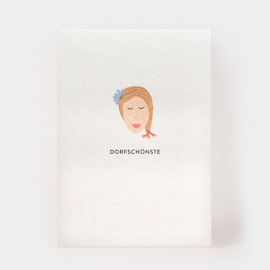 """Postkarte - """"Dorfschönste"""" - Kartenmarie"""