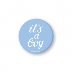 Button - it's a boy - krima&isa