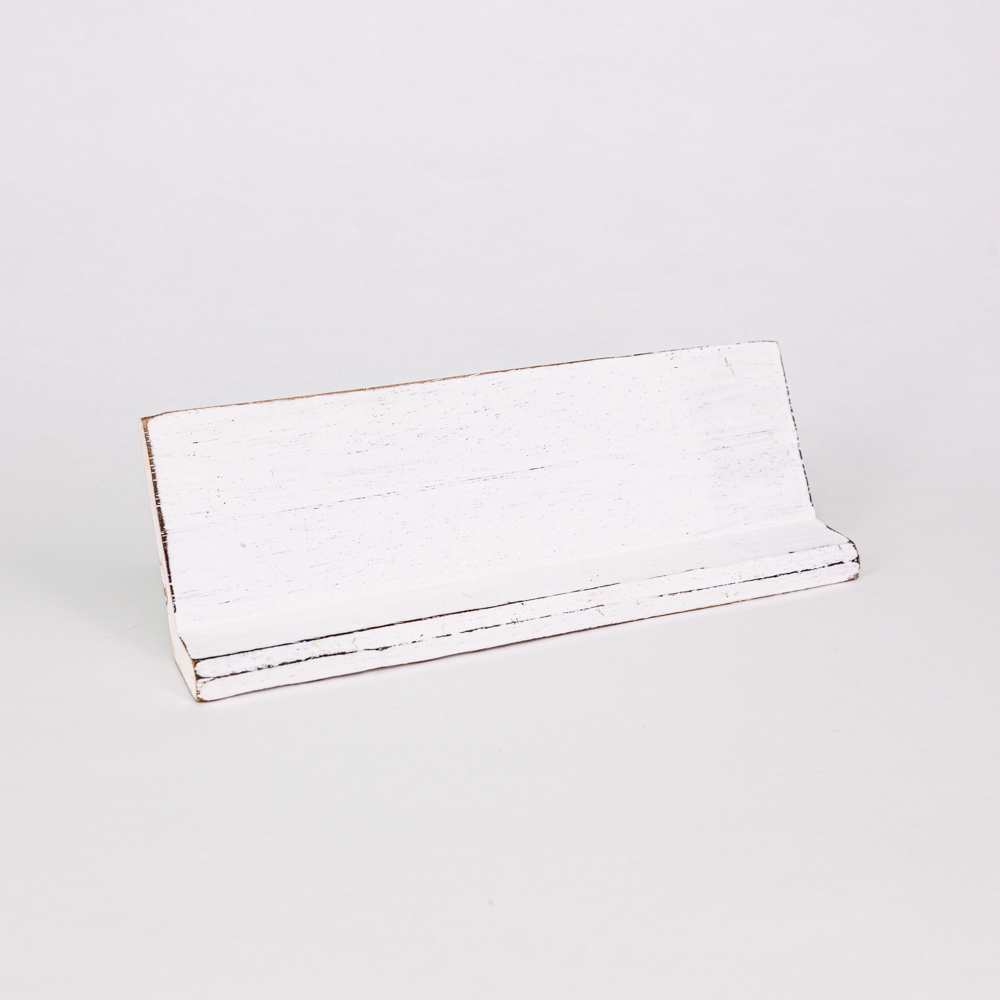 Holzleiste | Buchstabenbrett - 60 cm - weiß - für alle Holzbuchstaben und Holzzeichen im Scrabble-Style