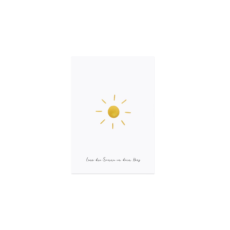 Postkarte - Sonne - Eulenschnitt