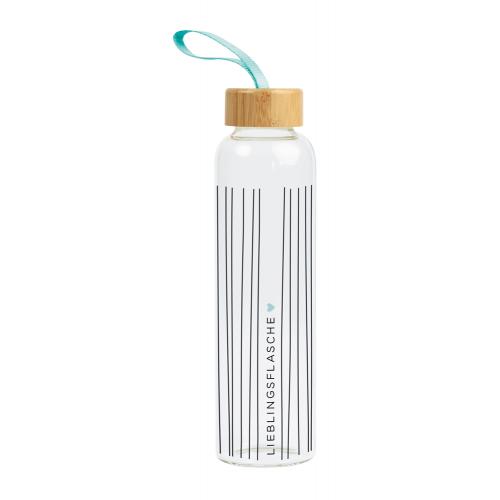 Glastrinkflasche - Lieblingsflasche - Grafik Werkstatt