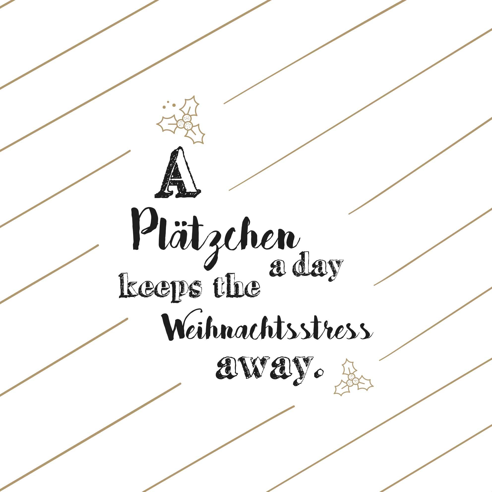 """Papierservietten """"A Plätzchen a day"""" - räder (Xmas)"""