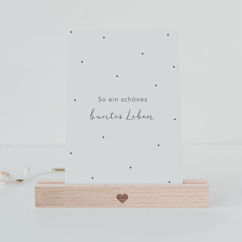 Postkarte - Buntes Leben - Eulenschnitt