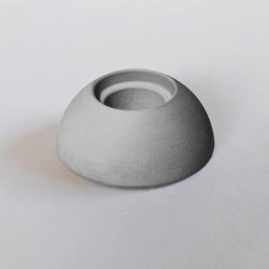 Kerzenhalter grau aus Kera-Guss - Wünschelicht