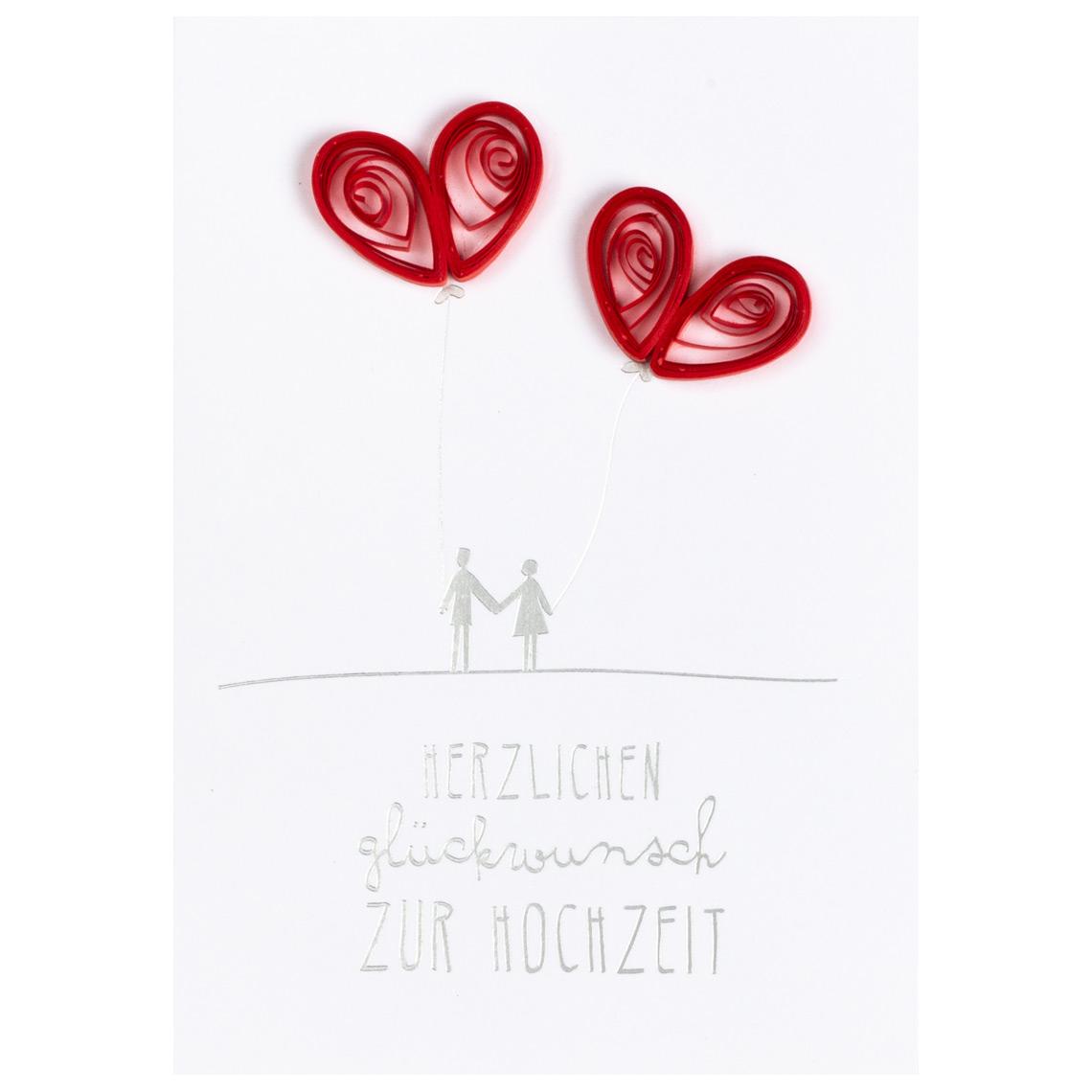 """Hochzeitskarte - Quilling Karte """"zur Hochzeit"""" - räder"""