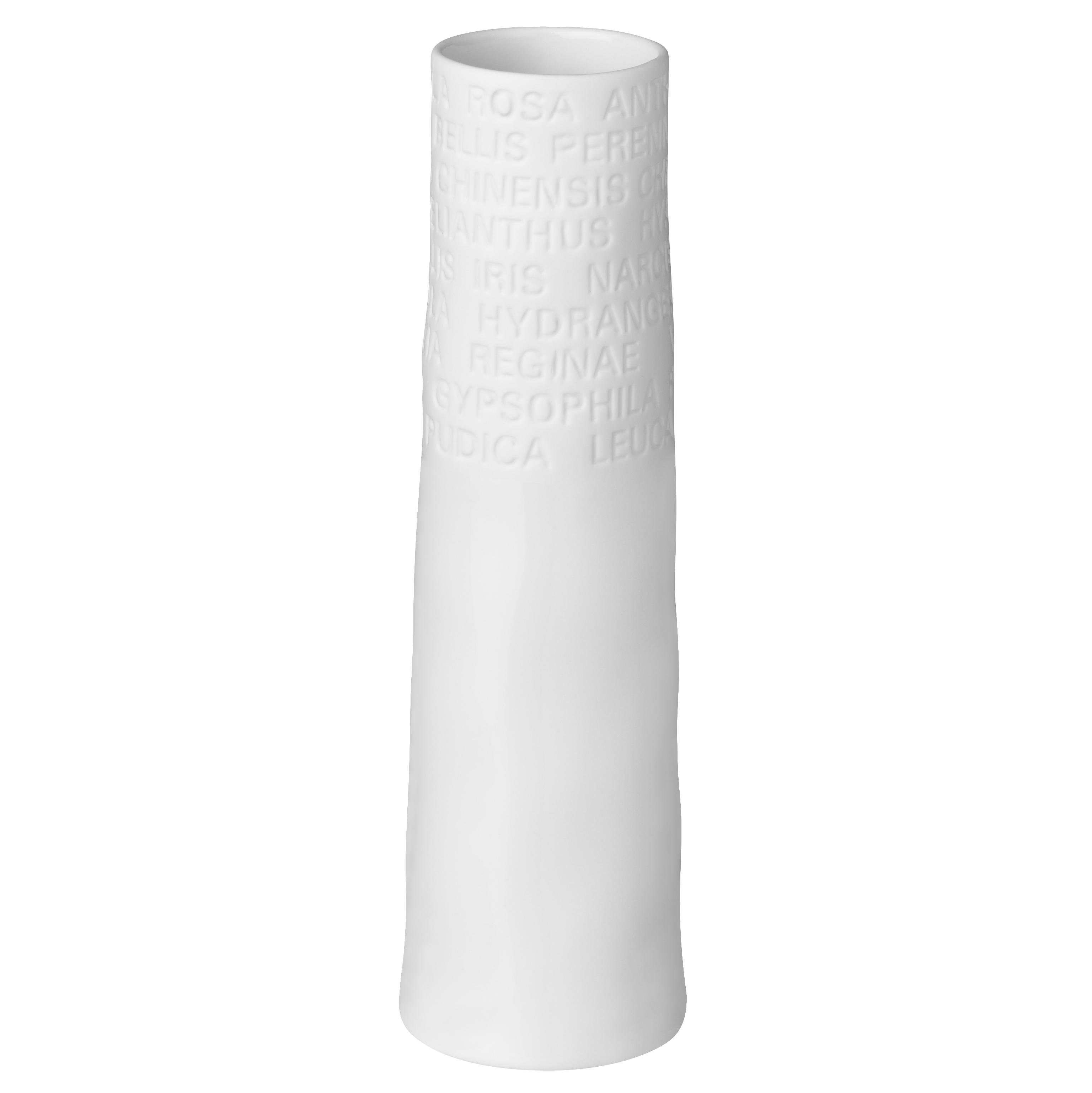 """Schmale Vase (klein) """"Text"""" - räder"""