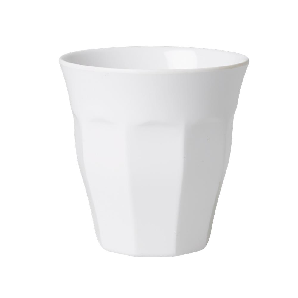 Medium Melamine Cup - Uni weiß - rice