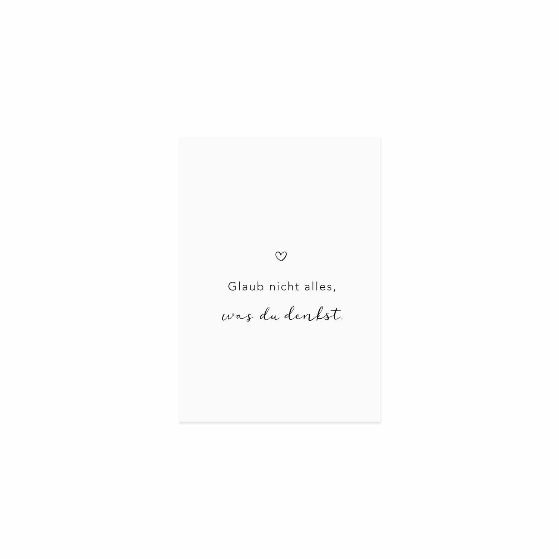 Postkarte - Glaub nicht alles was Du denkst - Eulenschnitt