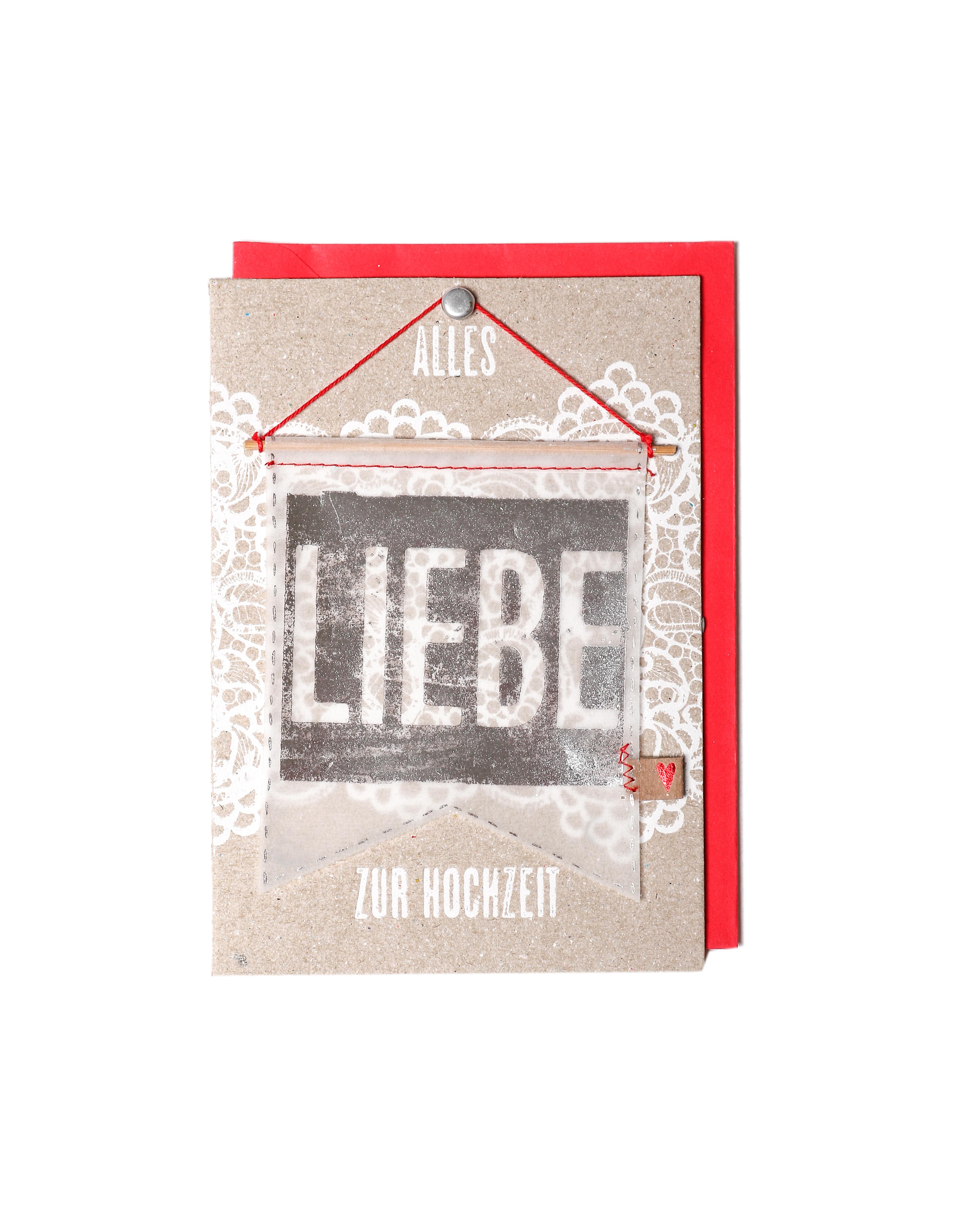 Wimplekarte - Zur Hochzeit - Good old friends