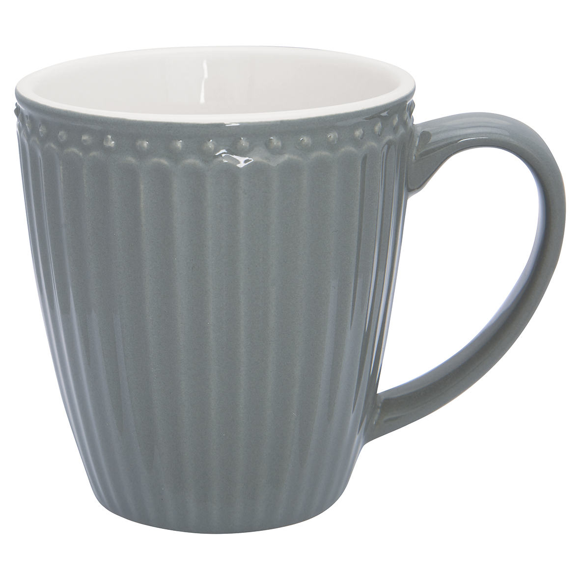 Becher mit Henkel - Alice stone grey - Greengate