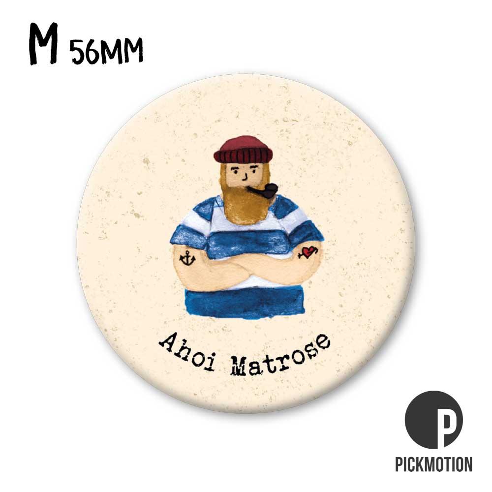 "Kühlschrank-Magnet - Medium - ""Ahoi Matrose"" - MM 0657-DE - Pickmotion"