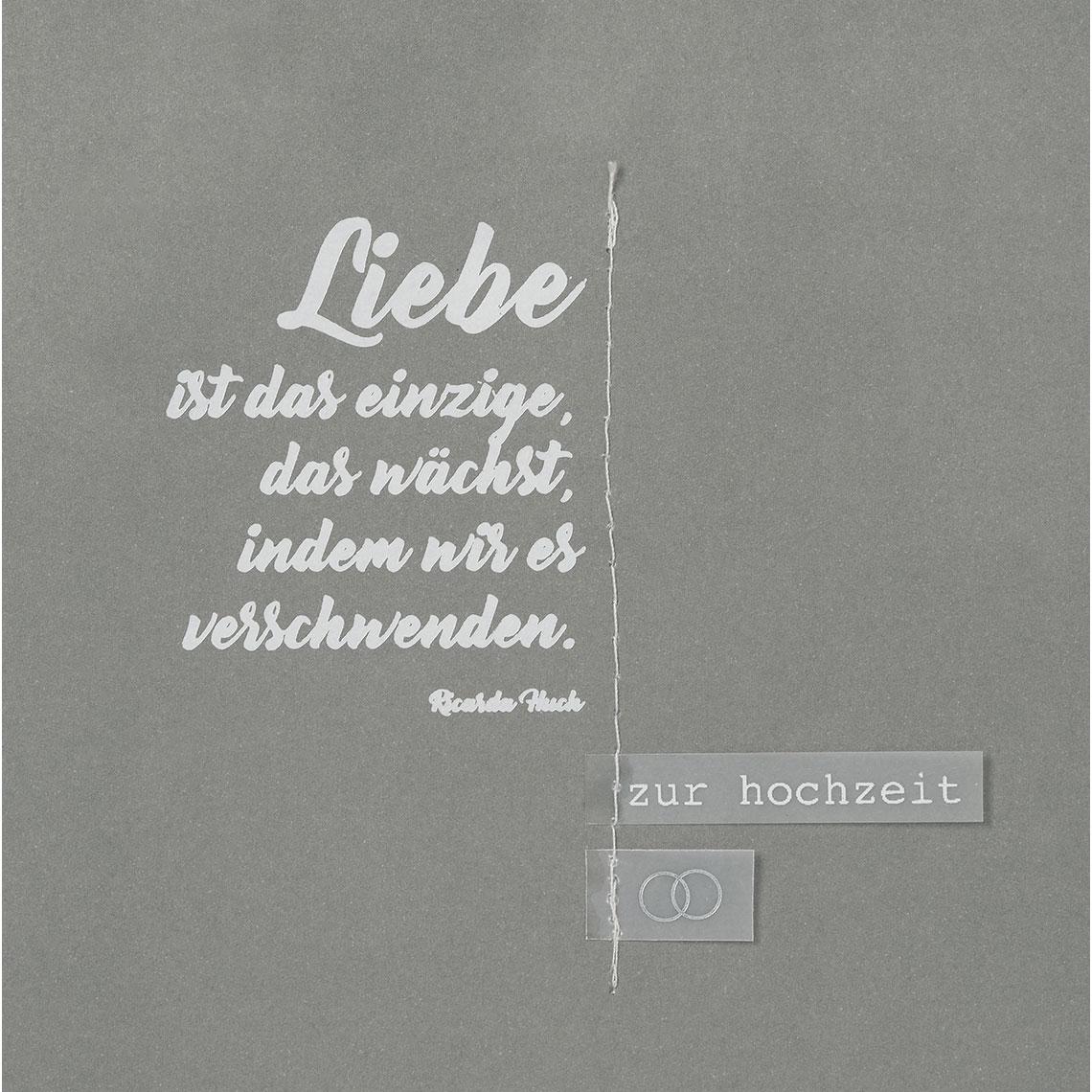 """Hochzeitskarte """"Liebe ist das einzige.."""" - räder"""
